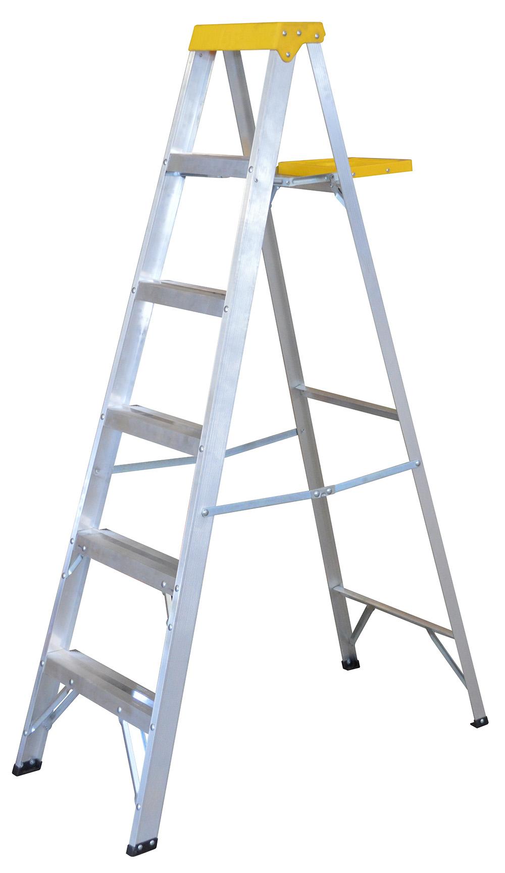 Escalera de aluminio tipo tijera 5 pelda os m urrea for Escaleras 10 peldanos de tijera
