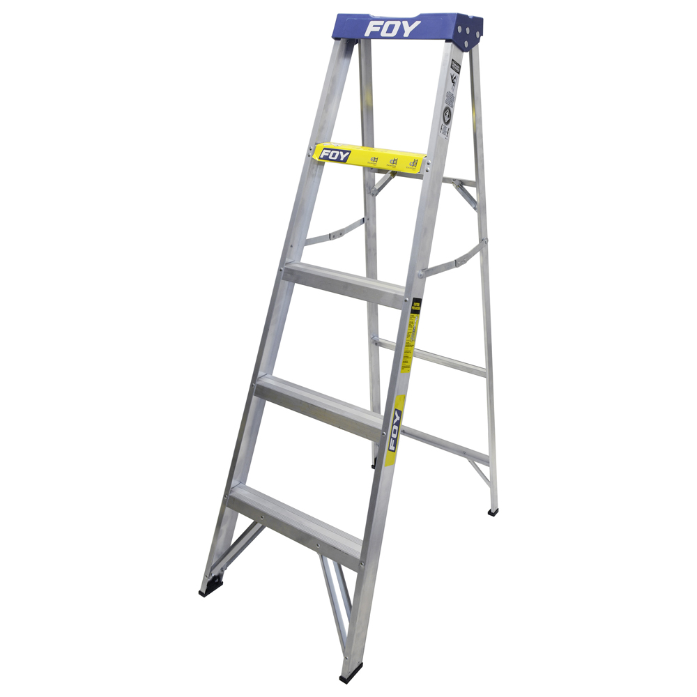 Escalera de aluminio tipo tijera 4 escalones urrea for Escalera de tijera precio