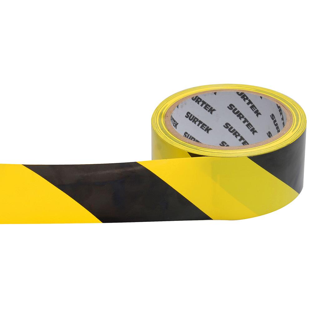 Imagen para Cinta de señalización amarilloy negro 18 mt de Grupo Urrea