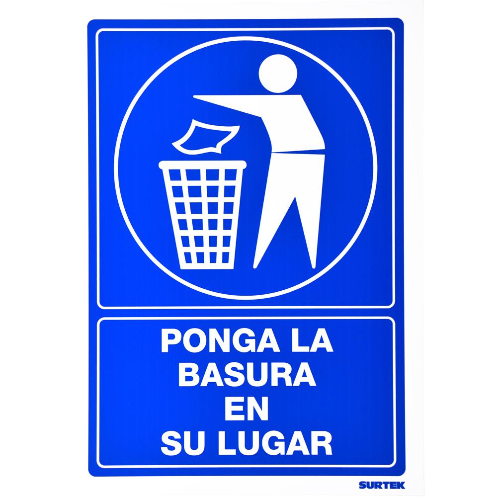 """Imagen para Señal """"Basura en su lugar"""" de Grupo Urrea"""